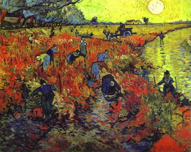 The only painting Vincent van Gogh sold during his lifetime was Red Vineyard at Arles (The Vigne Rouge)